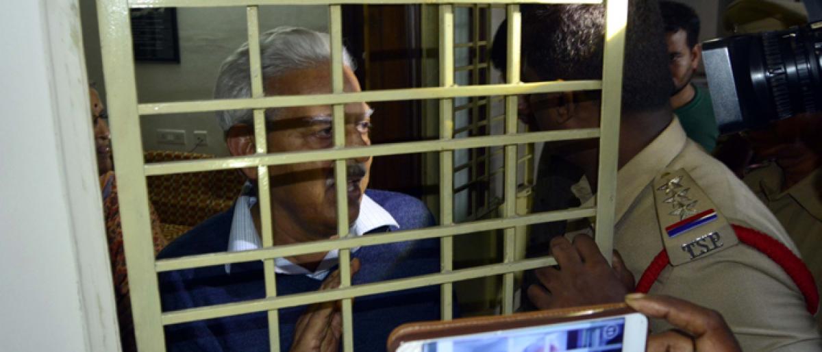 Back to Hyderabad, Varavara Rao sees bigger conspiracy