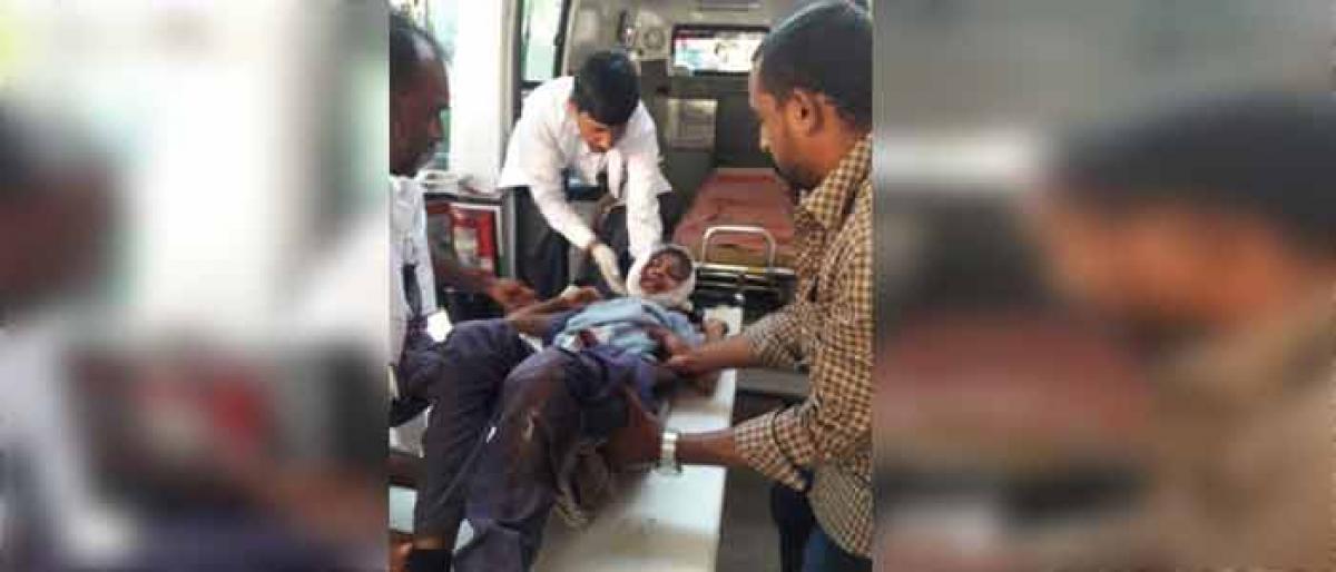 Five students hurt in road mishap