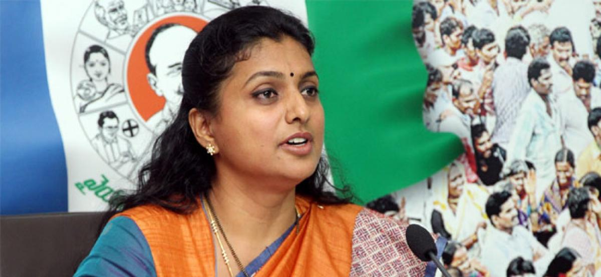 Babu changed stance on SCS only because of YSRCP stir: Roja