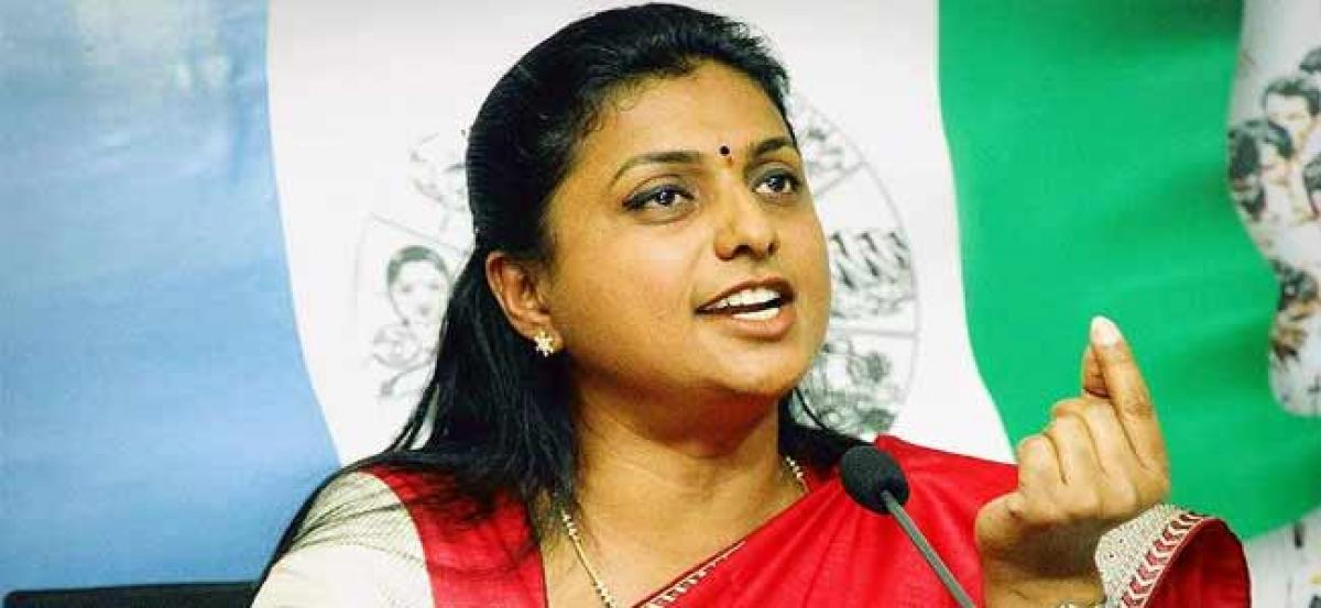 Women Are Not Safe In Chandrababu Govt: Roja