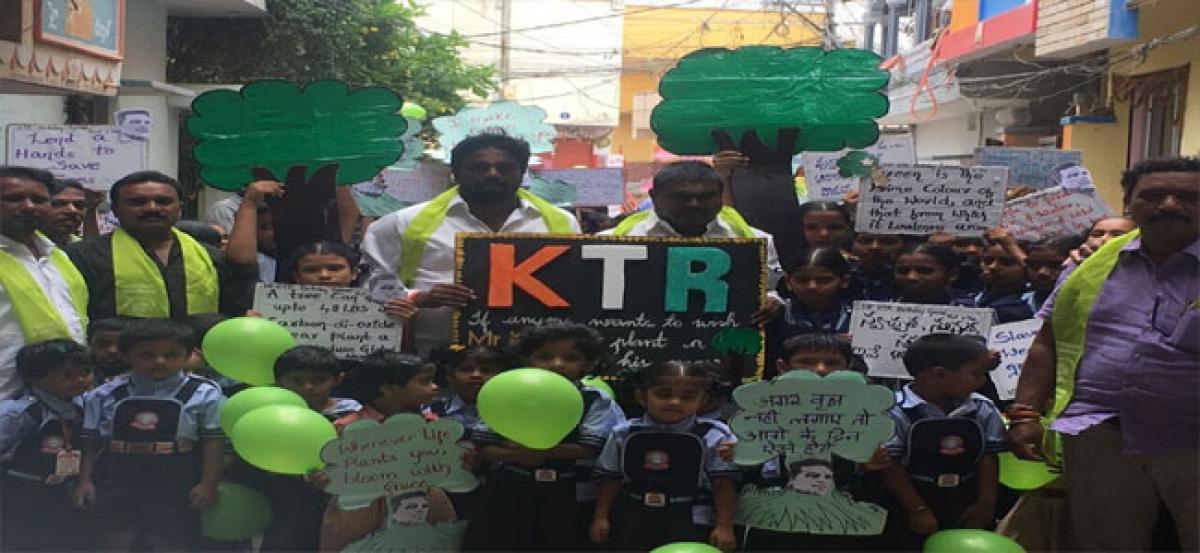 Satya Sai School celebrates KTR's birthday