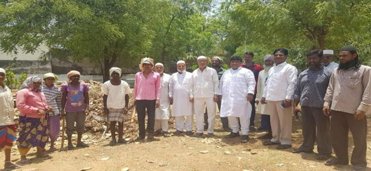 Cleaning works taken up in Ramnath Nagar