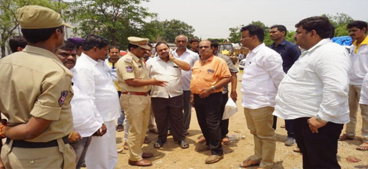 Qutbullapur MLA inspects Maa Bhagavathi Jagaran arrangements