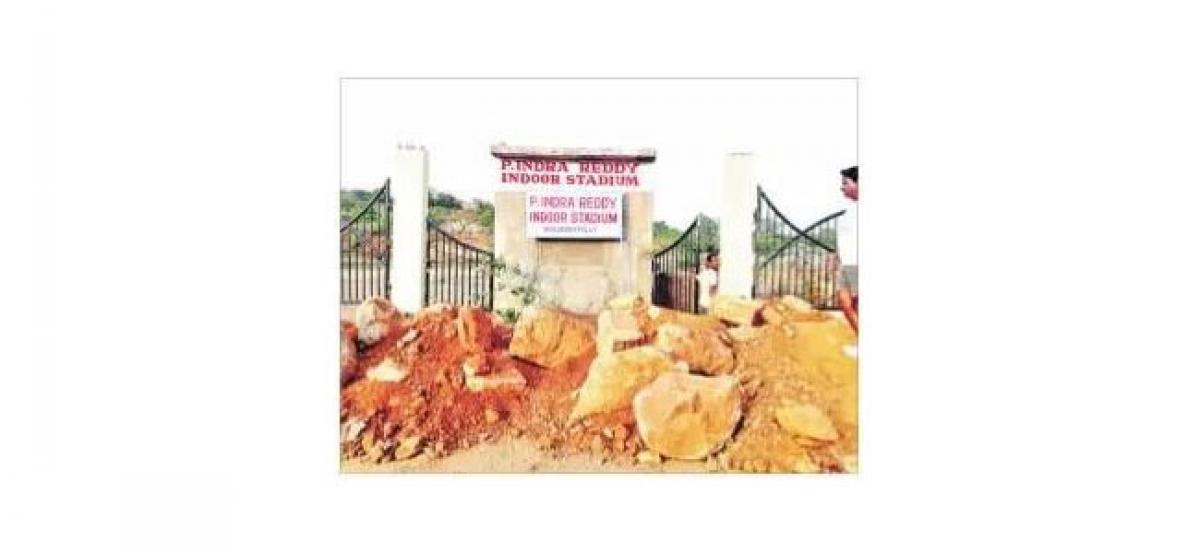 Demand to clear boulders at Katedan Indoor stadium