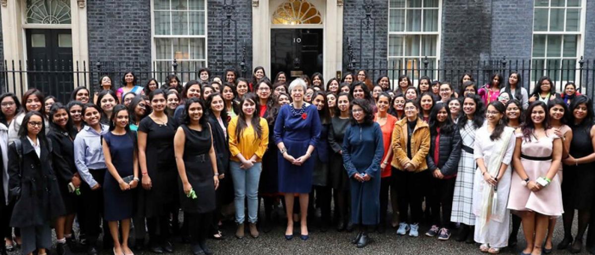 May felicitates Indian women STEM Scholars