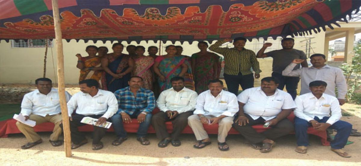 Sakshara Bharath coordinators go on relay hunger strike