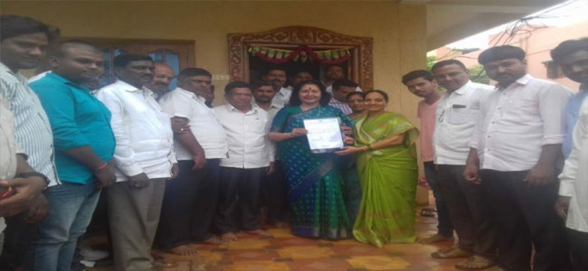 Sunitha appointed as TPCC state secretary