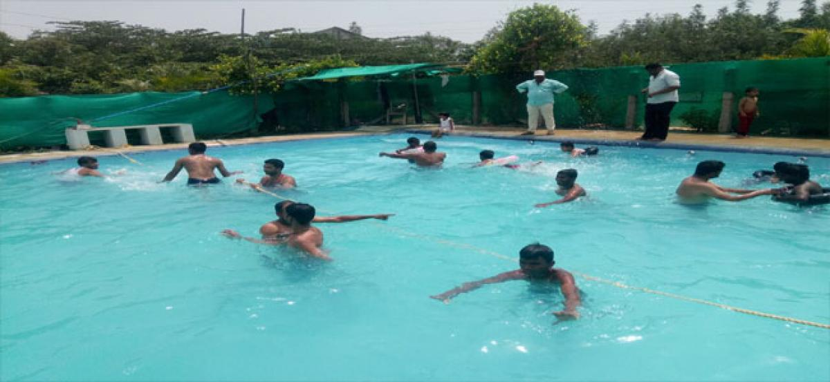 Students evince interest to learn swimming:Mohammad Wajid