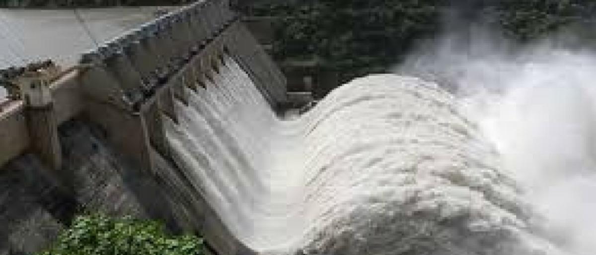 Painting Sagar dam pink raises hackles of Andhra