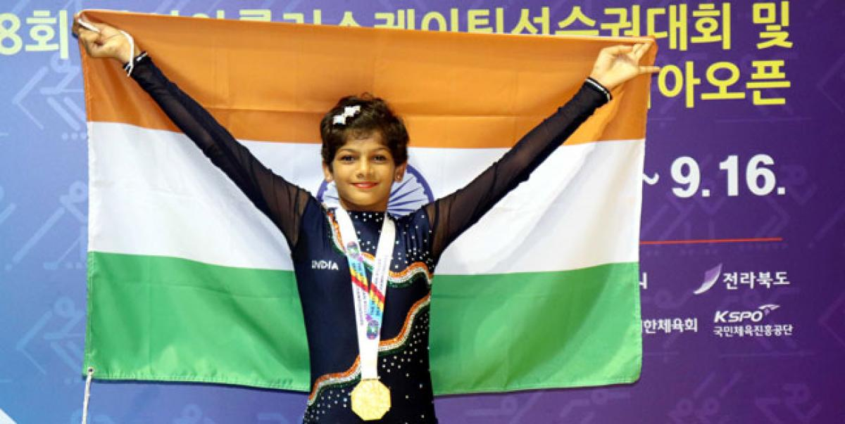 Visakhapatnam City lass wins gold medal in Asian Roller Skating Championship