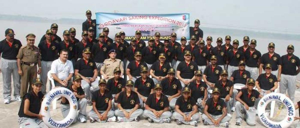 NCC cadets sailing expedition flagged off in Bhadrachalam