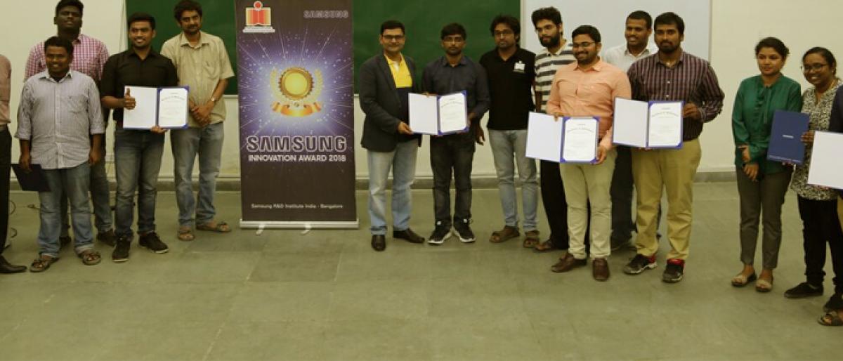 IIT-Hyderabad students win Samsung Innovation Awards