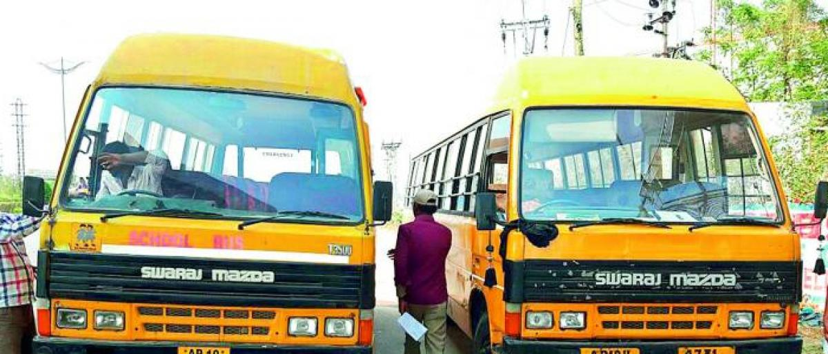 RTA seizes 8 school buses for violating rules