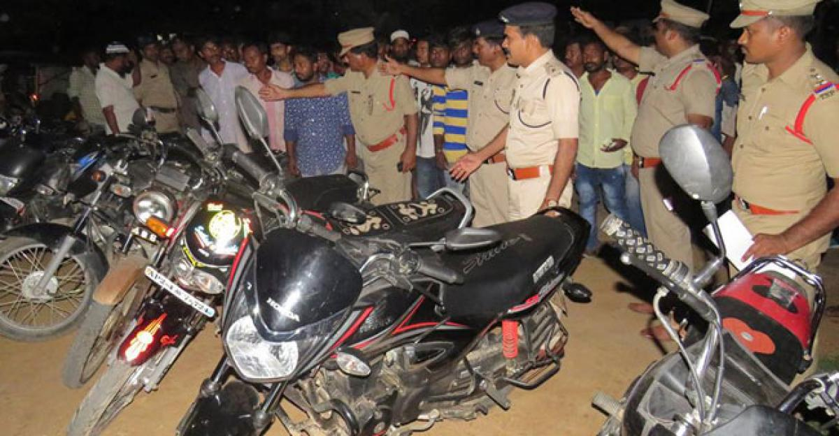 Cordon and search operations, 12 bikes seized