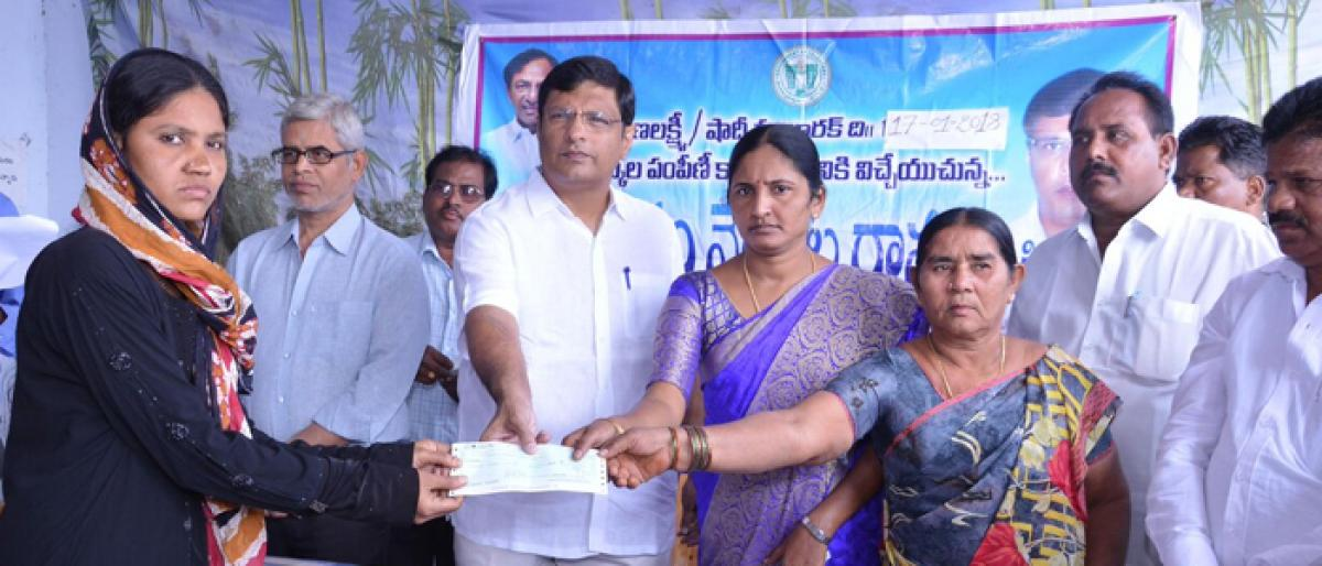 Kalyana Lakshmi & Shaadi Mubarak cheques distributed