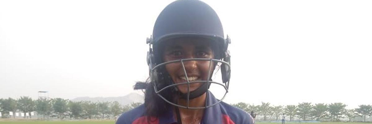 Shivi Pandey of Chhattisgarh scores unbeaten 104 runs