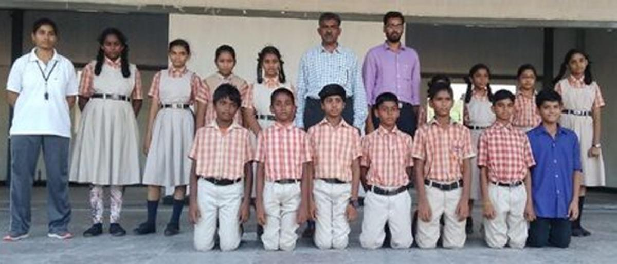 Siddhartha students selected for state-level Gymnastics competitions
