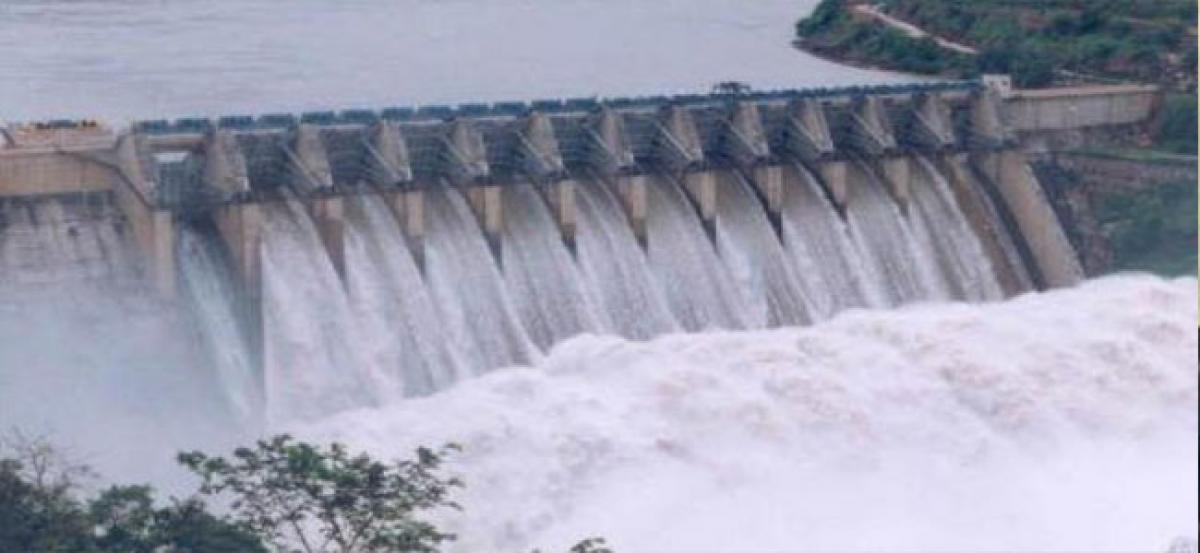 Srisailam dam fills up, four gates lifted