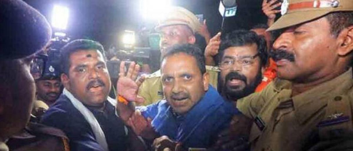 Sabarimala row: BJP leader Surendran remanded to 14-day judicial custody