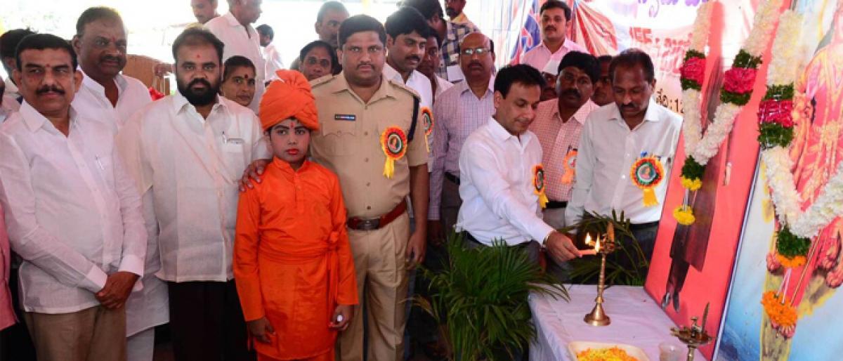 Rallies, blood donations mark Swami Vivekananda Jayanti