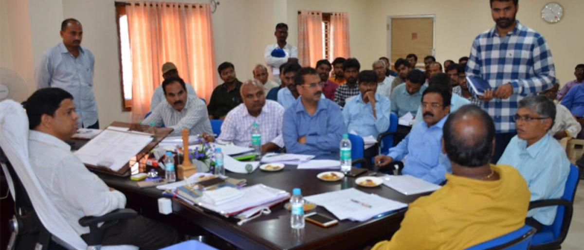 Complete works ontime or face action: Suryapet Collector to officials