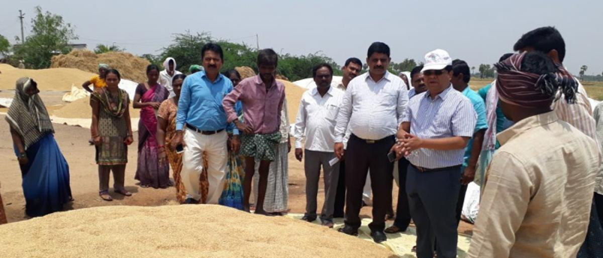 Purchase soaked paddy from farmers at MSP