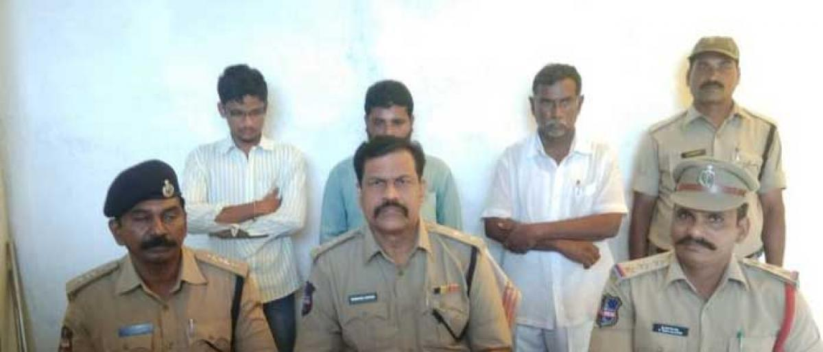 3 held in Suryapet family suicide case