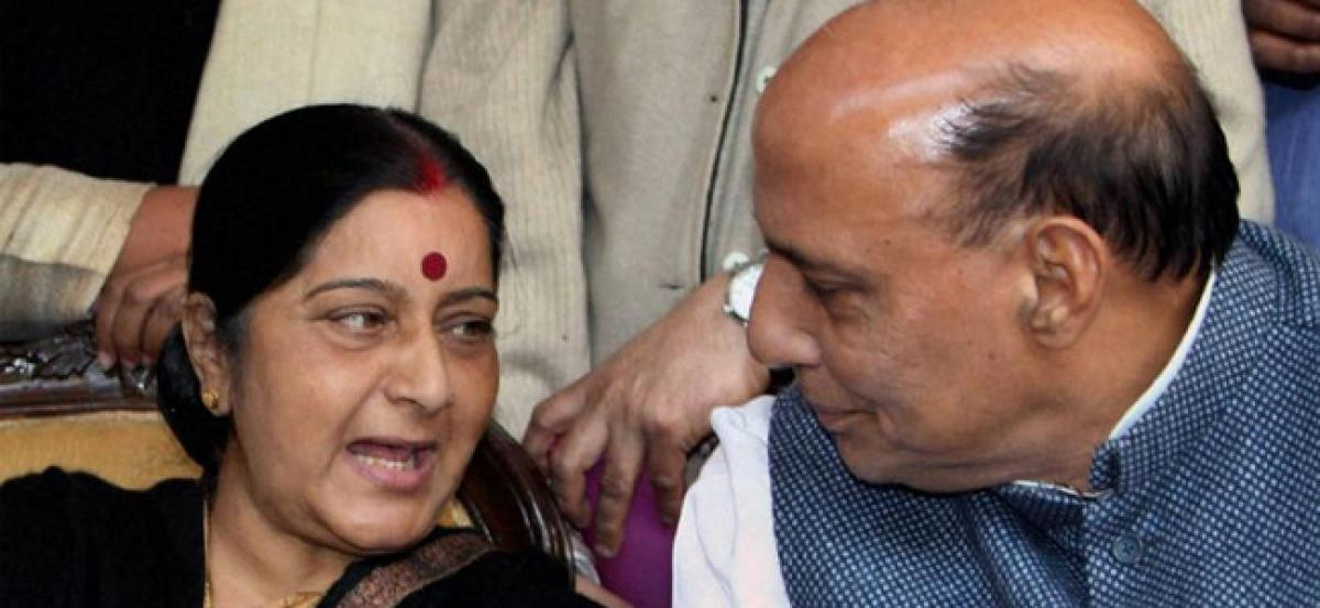 Trolling of Sushma is wrong, says Rajnath Singh