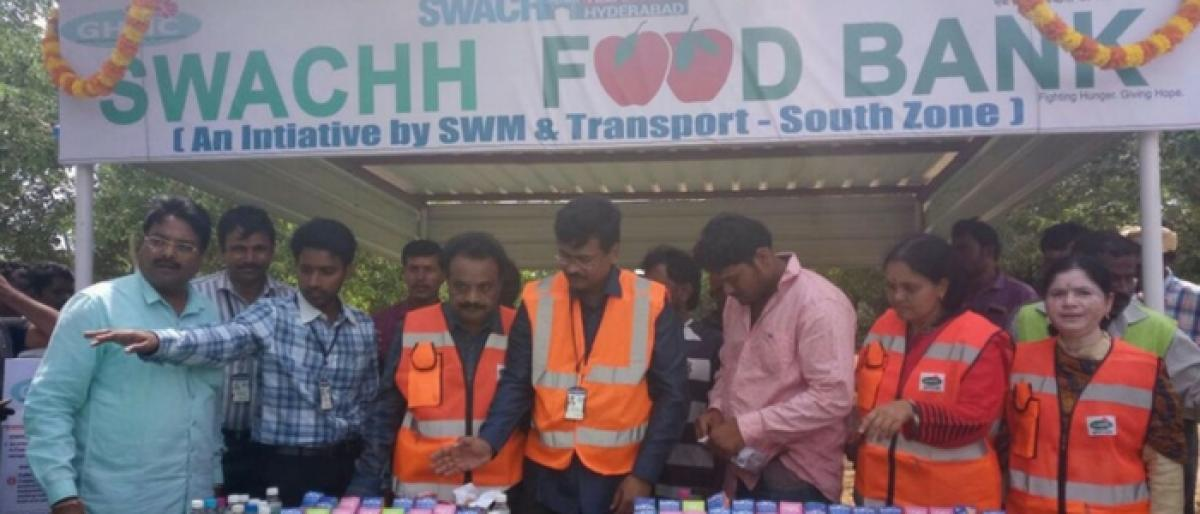 Swachh food banks to feed poor: GHMC
