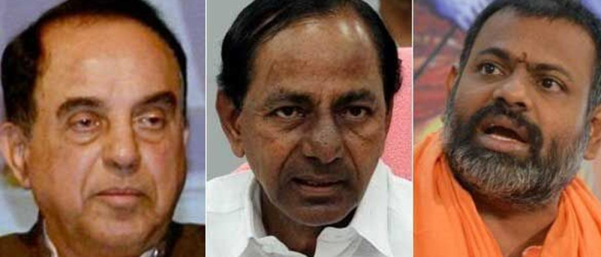 Subramanian Swamy threatens to put KCR in the dock