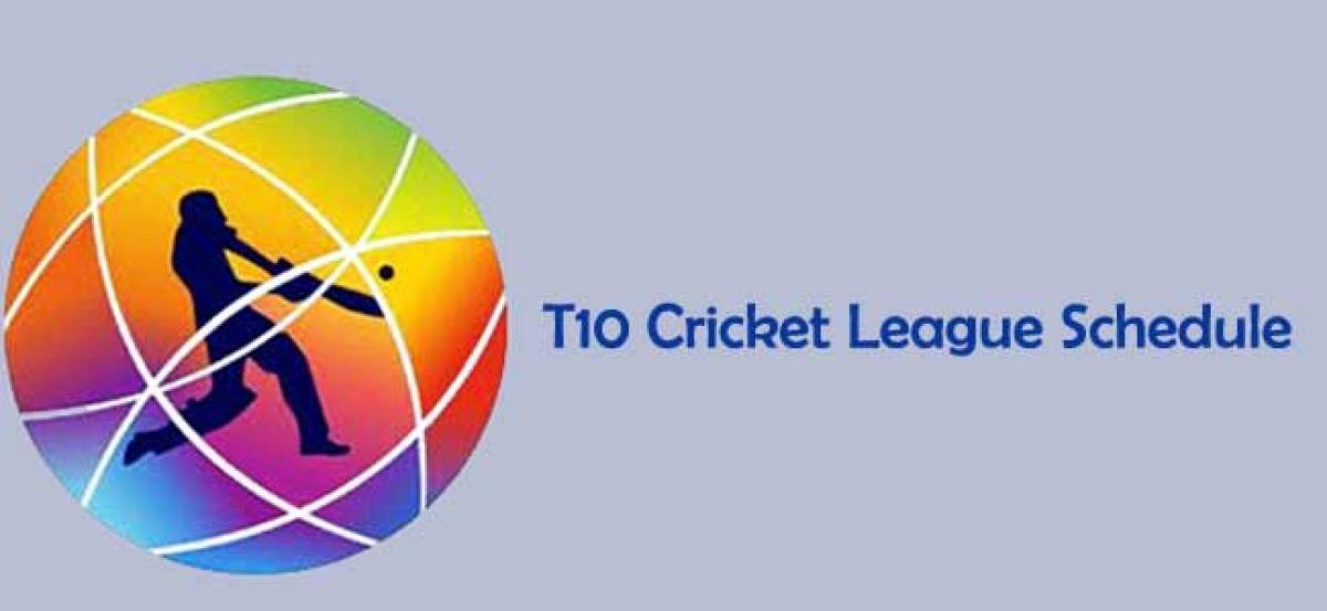 T10 Cricket League Schedule