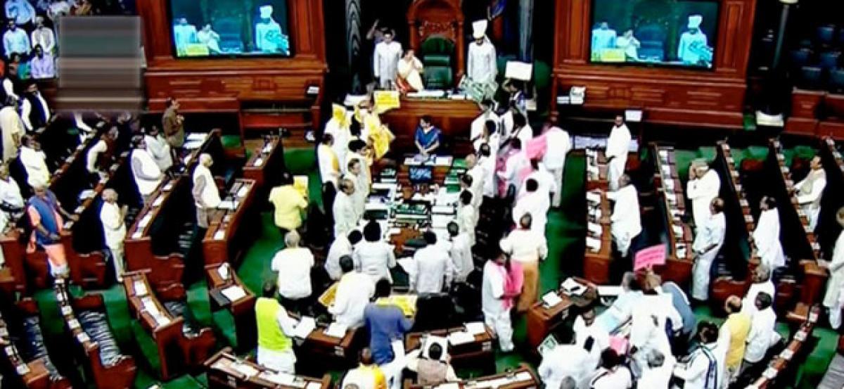 TDP demands debate on special status, Lok Sabha adjourned