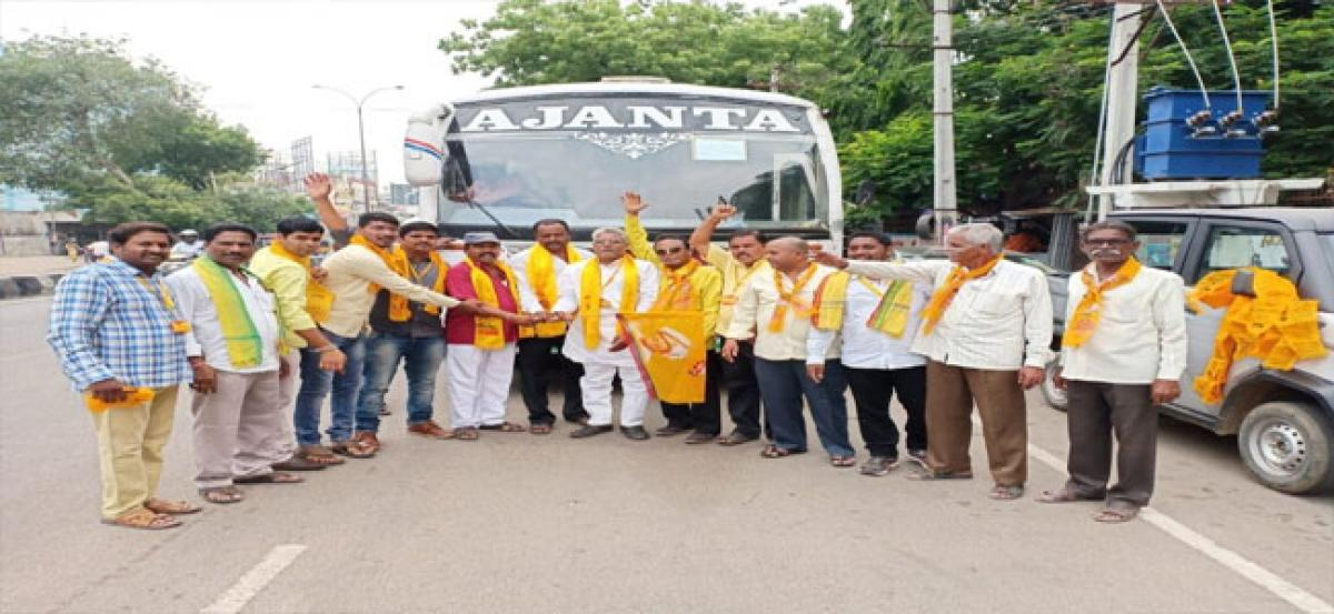 T-TDP Kapra leaders participate in Mini Mahanadu
