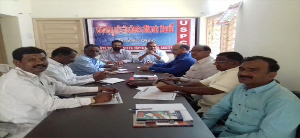 Teachers want KCR's assurances implemented