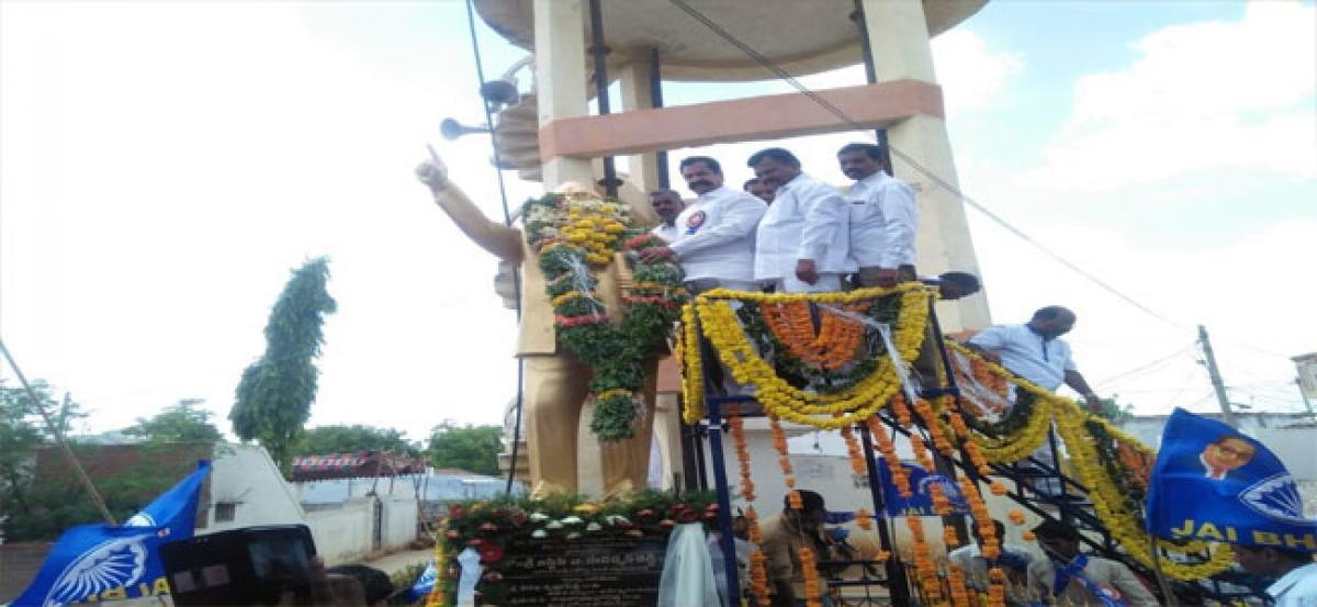 Teegala unveils Ambedkar statue