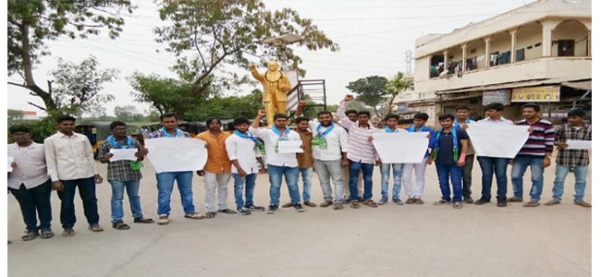 TJS student wing protests Miryalaguda honour killing