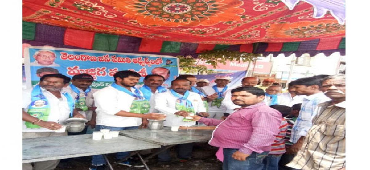 TJS distributes free butter milk at IDPL
