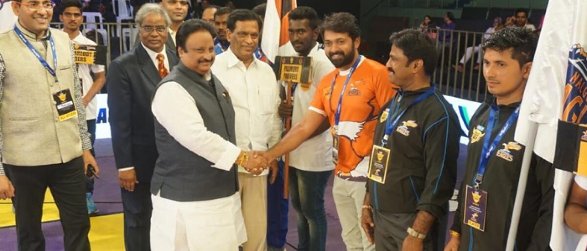 Telangana Primer Kabaddi League begins on a rollicking note
