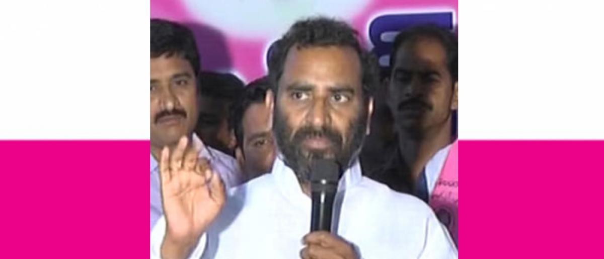 TRS leader Rajarapu Prathap Goud quits party