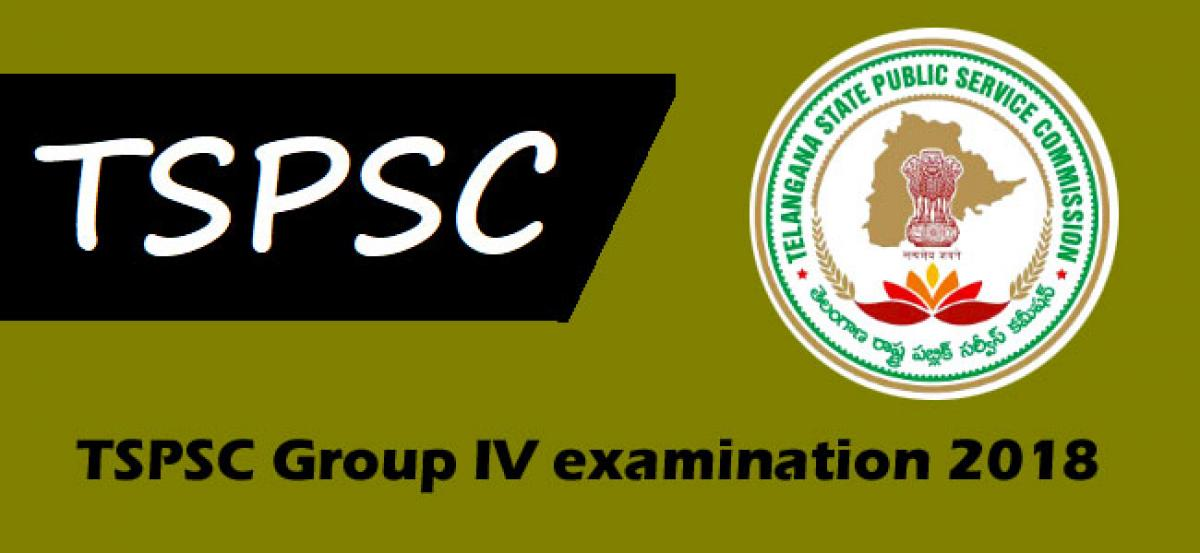 TSPSC Group IV examination 2018: Must follow instructions for candidates