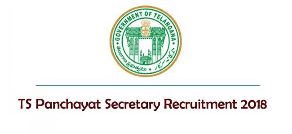 TS Panchayat Secretary Recruitment 2018; Last date extended