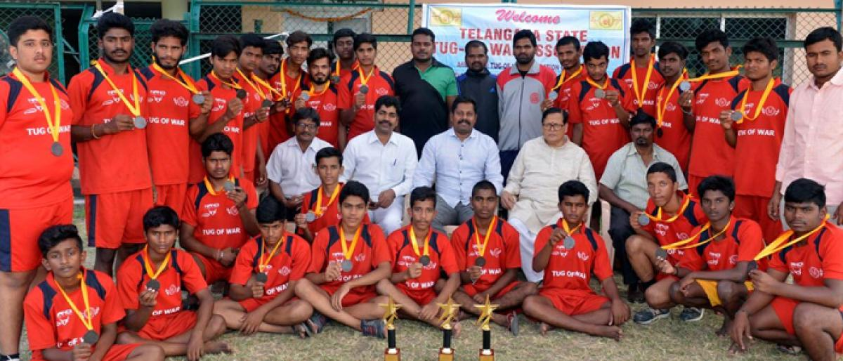 Bronze for Telangana in tug-of-war championship
