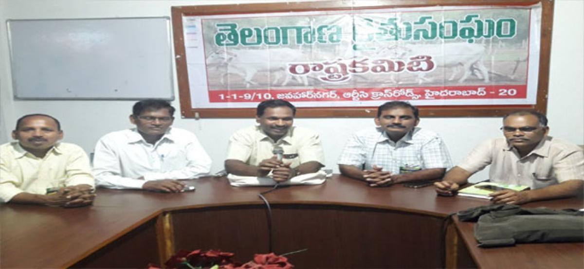 Telangana Rythu Sangham warns of Maha Dharnas