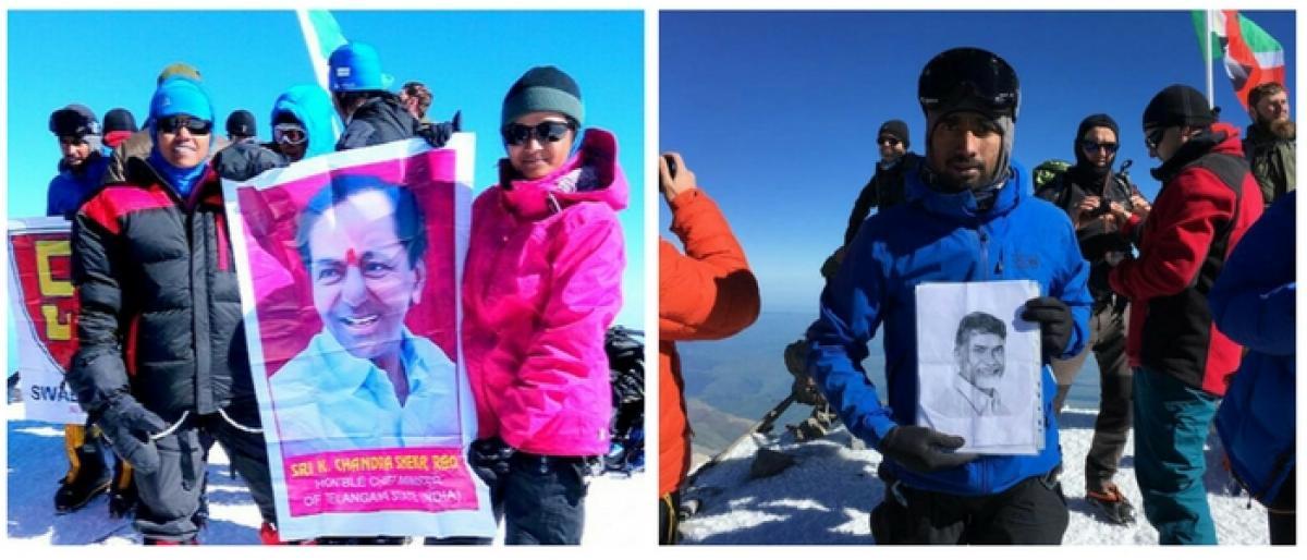 Telugu youth from Telangana, AP conquer Mt Elbrus
