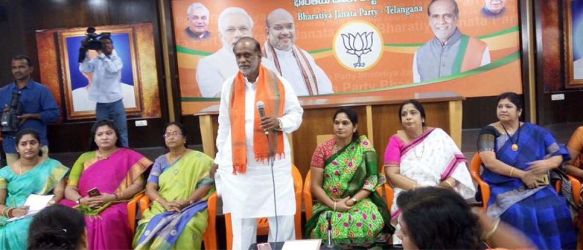 BJP to hold special meet to woo women voters