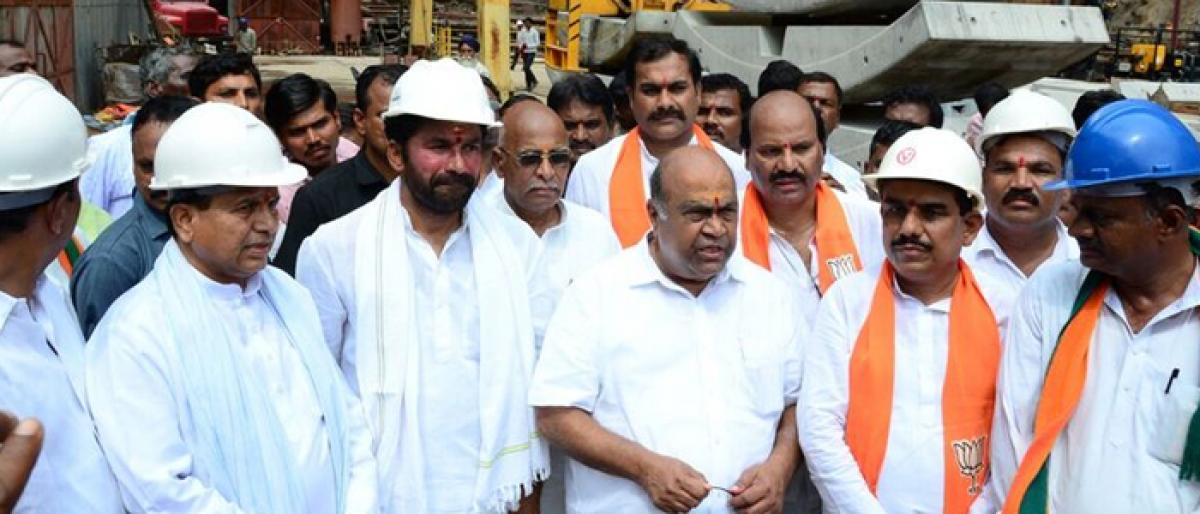 BJP slams KCR for accusing opposition of stalling projects
