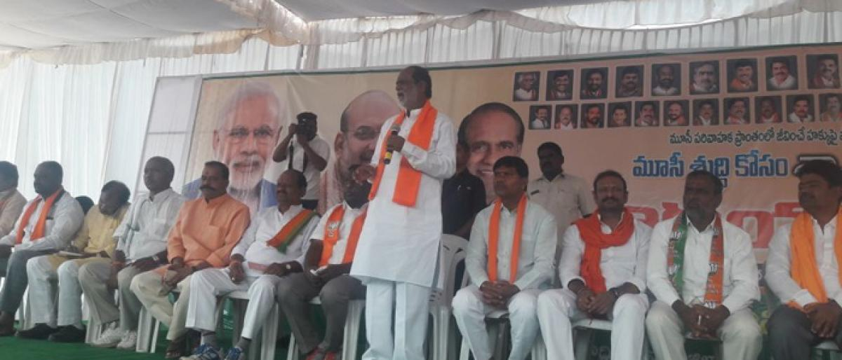 BJP accuses KCR of playing national political drama to divert people's attention