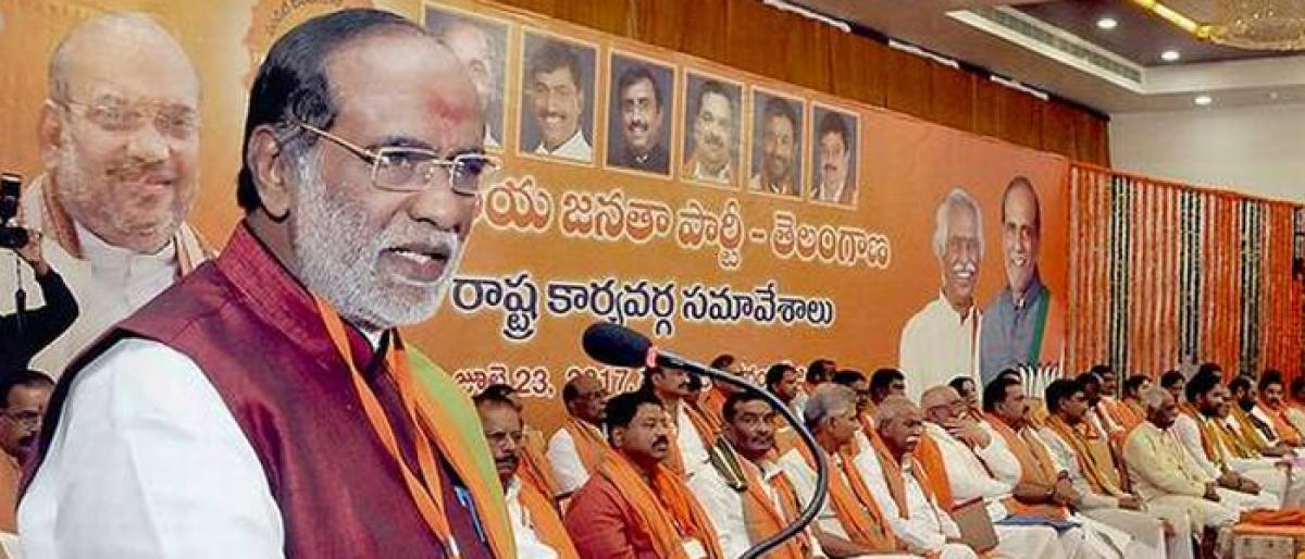 BJP lists a slew of sops to woo voters
