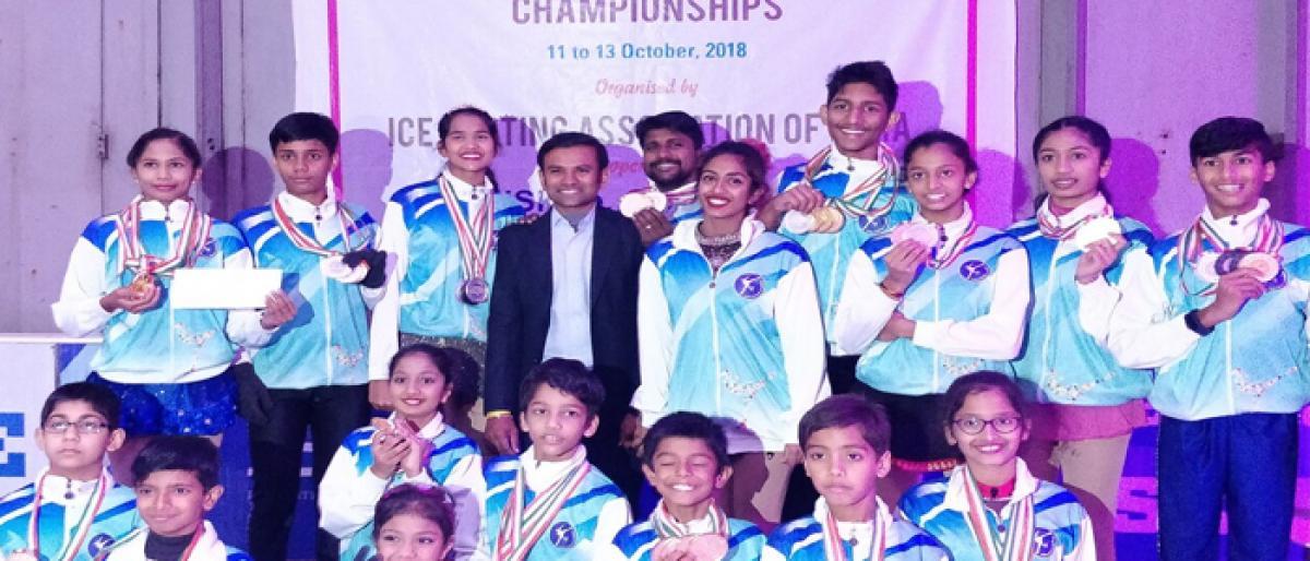 Team Telangana creates history at National Ice Skating Championship