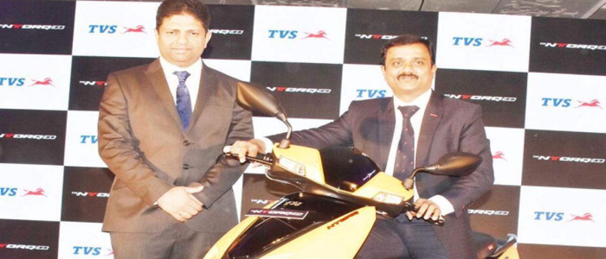TVS Motors unveils app-enabled scooter
